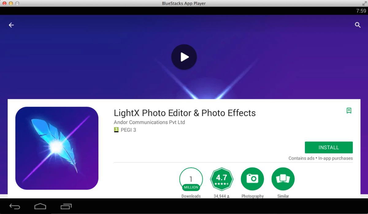 LightX Photo Editor pour PC Windows Mac