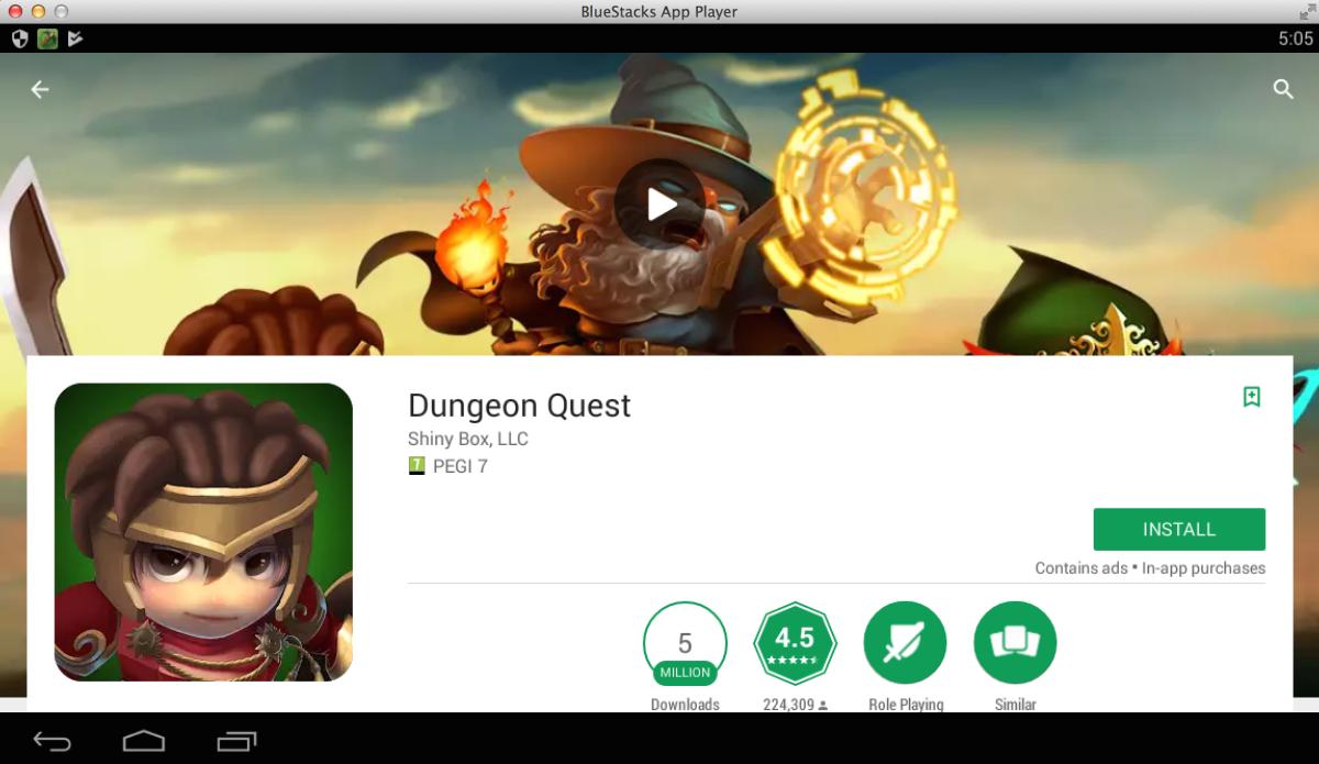 dungeon quest pour pc windows-mac