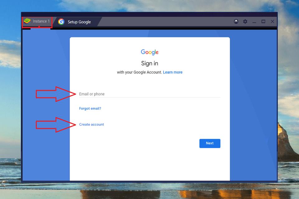 Compte google Bleustacks