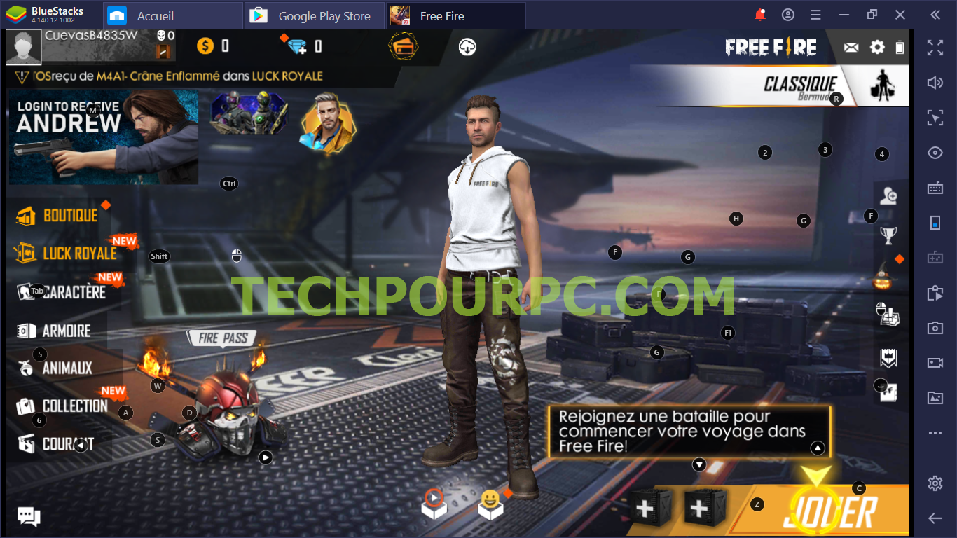 Gareena Free Fire Sur Pc avec Bluestacks
