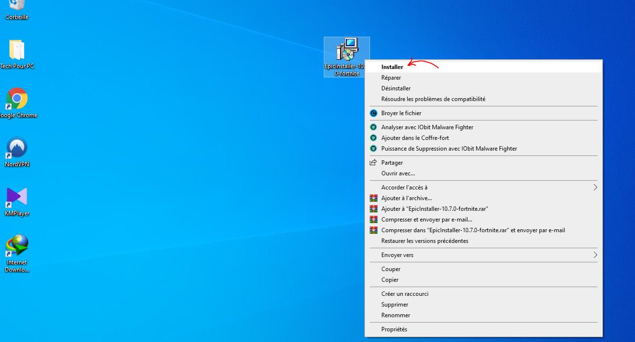 Installer FOrtnite PC