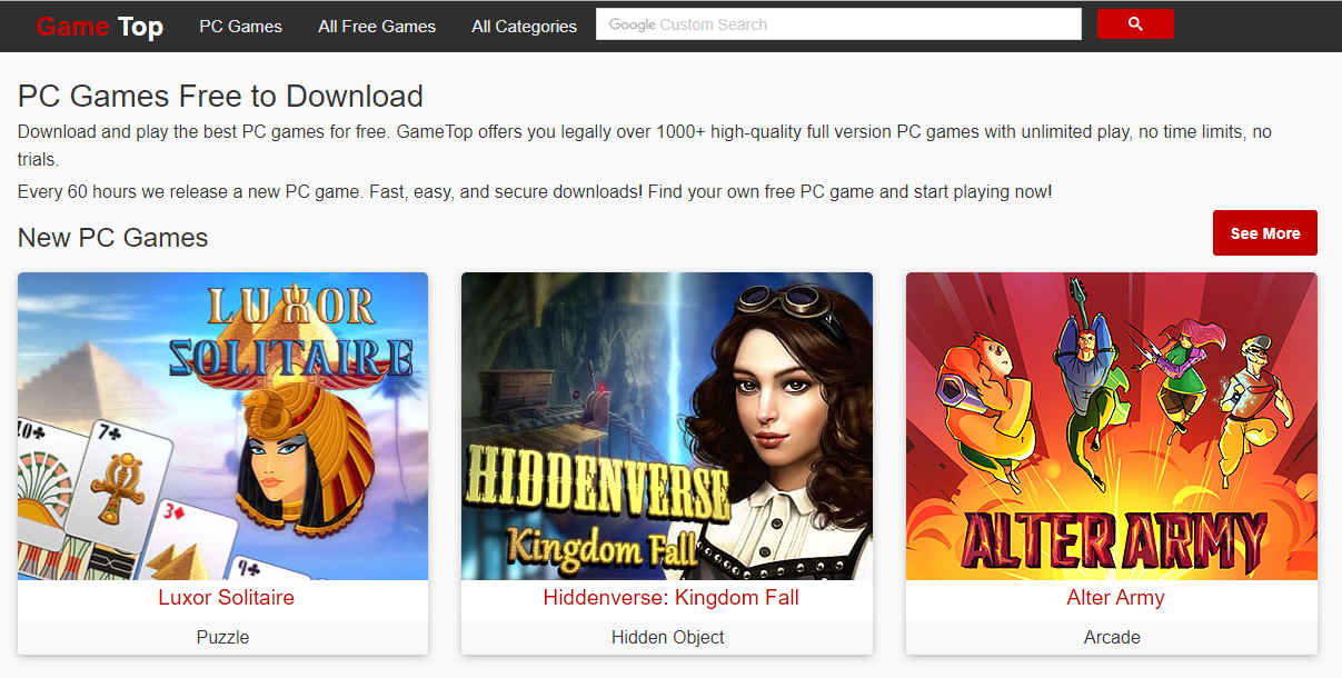 Gametop téléchargement de jeux PC gratuitement