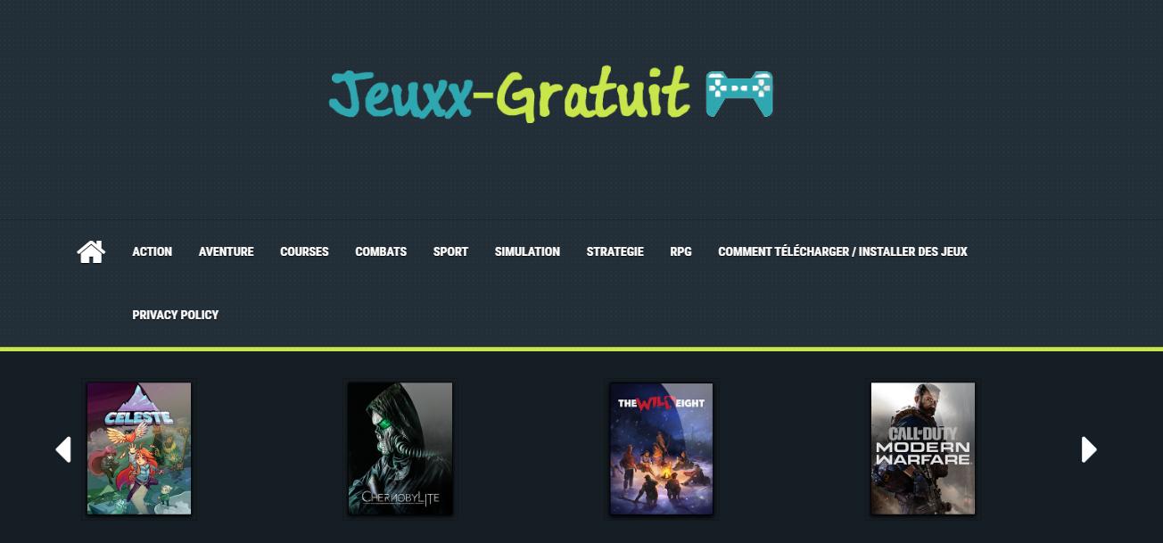 Jeuxx-gratuit.fr, site de jeux PC à télécharger, Téléchargement de jeux PC, Jeux PC complets gratuits 2020