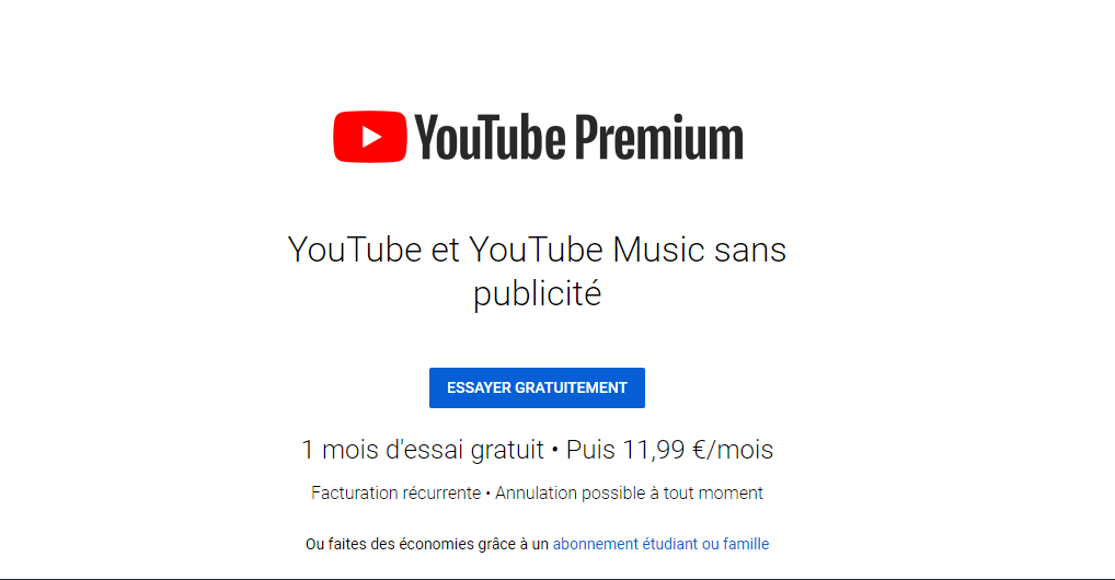 Youtube Premium RED