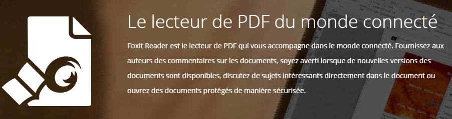 Foxit Reader, meilleur lecteur PDF windows 10