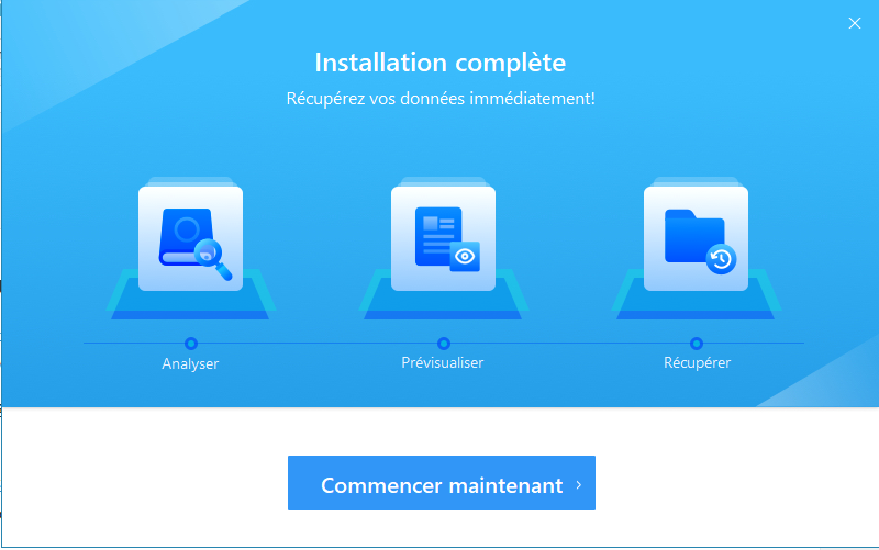 Installation EaseUs Data Recovery Wizard Gratuit
