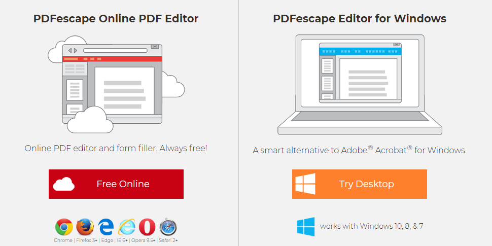 PDF Escape Enligne et Pour Windows