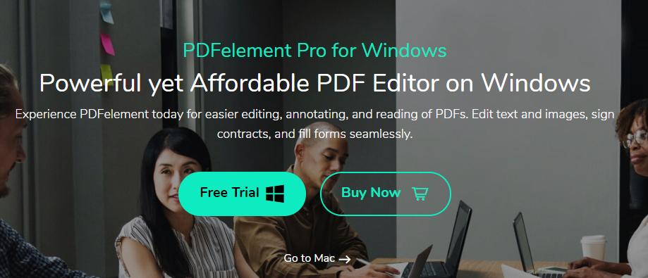 Modifier PDF, Télécharger PDFElement pour Windows