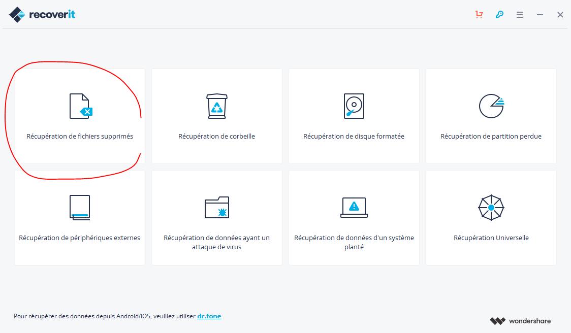 Récupération des fichiers supprimés, Recoverit Data recovery avis