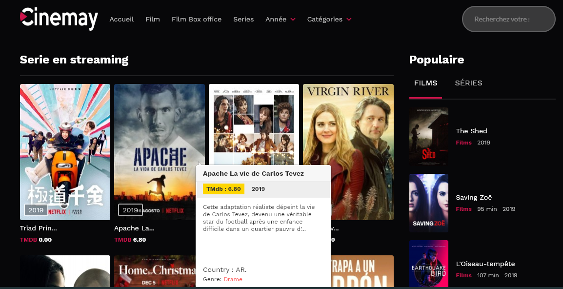 Cenemay, Série en streaming en ligne, serie français en Streaming