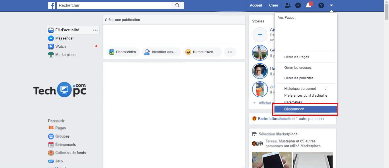 Comment se déconnecter de Facebook