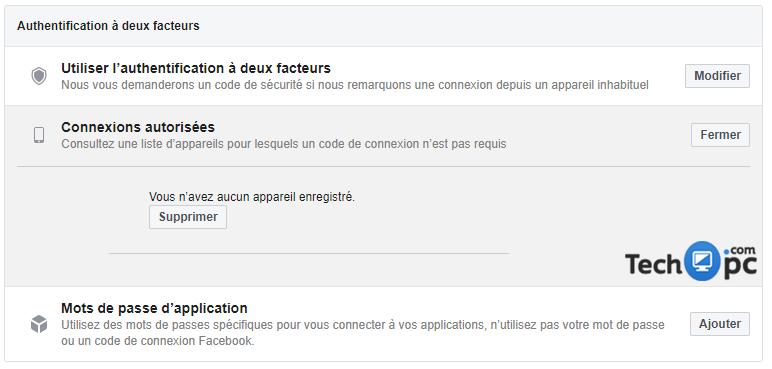 Comment se déconnecter des connexions autorisées Facebook