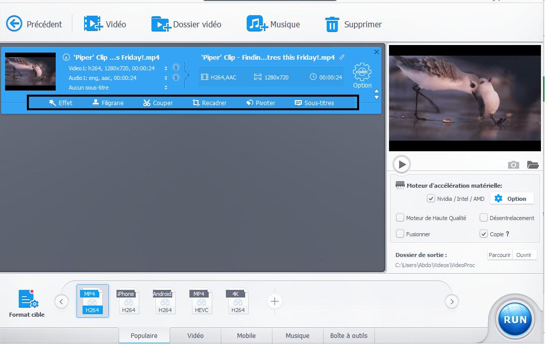Editeur Video VideoProc