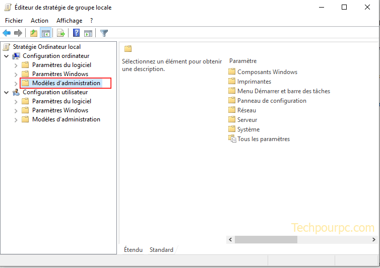 Editeur de strategie de groupe locale Windows 10
