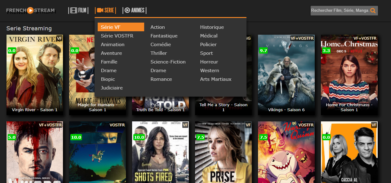 Série VF et Voster vias French-streaming.com