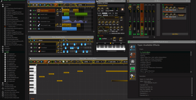 LMMS, Logiciel de production musical