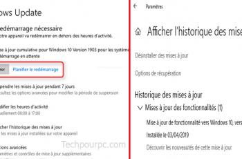 Mise à jour cumulative Windows 10