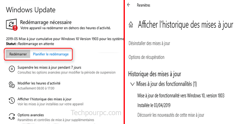 Mise à jour cumulative Windows 10