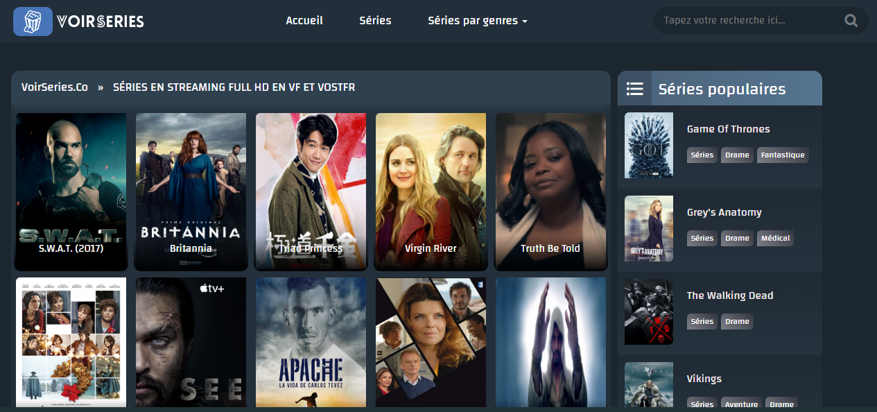 VoirSeries.Co, Voir Series Enligne, Series Streaming, SÉRIES EN STREAMING FULL HD EN VF ET VOSTFR