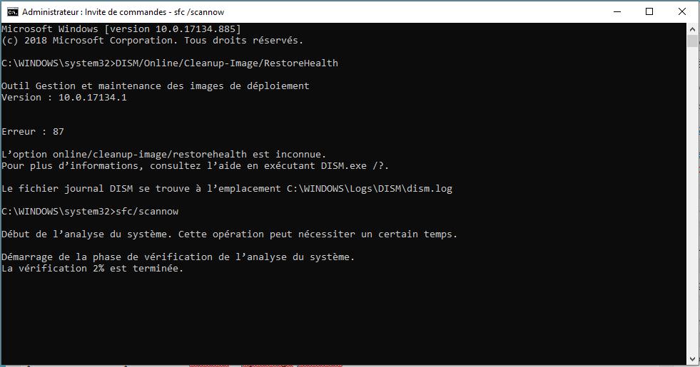 Invite Commande Windows