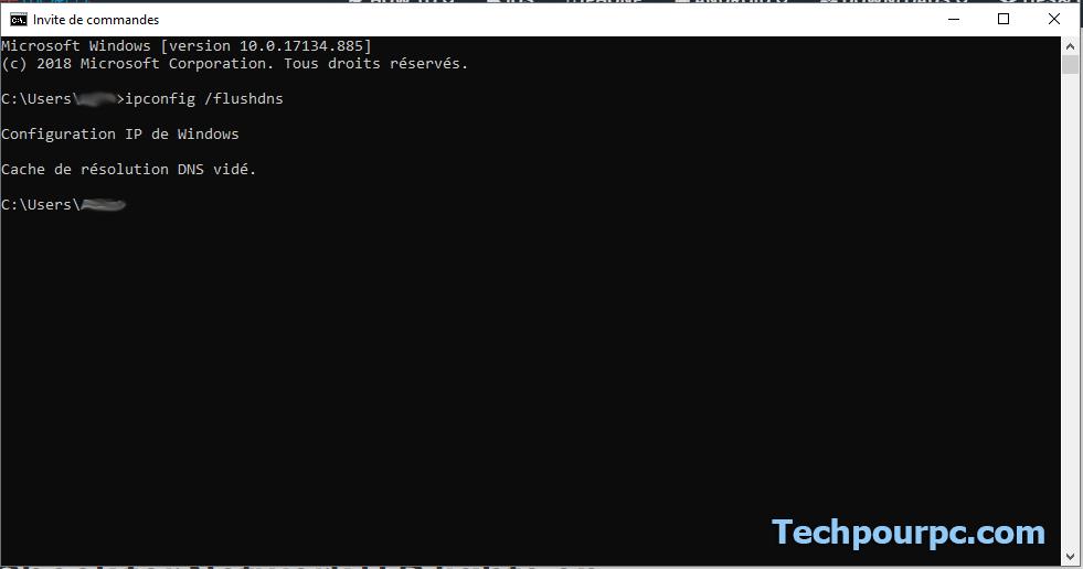 Vider DNS Cache Windows