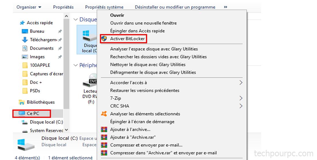 Activer Bitlocker Windows 10, sécuriser son PC windows 10