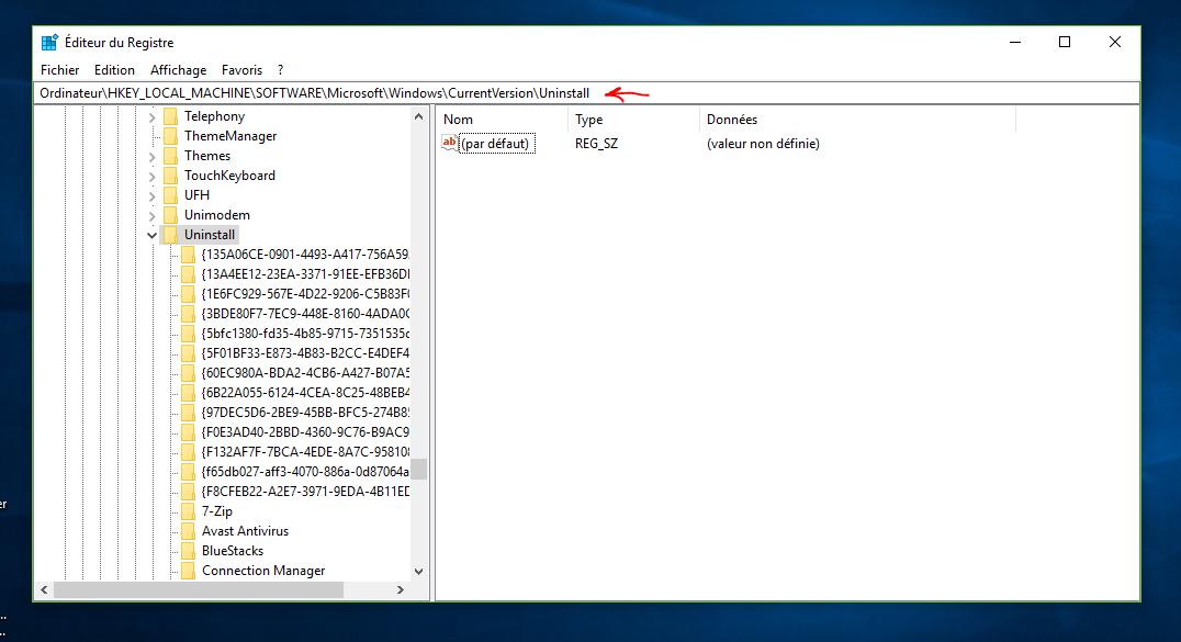 comment désinstaller un programme qui ne veut pas se désinstaller windows 10