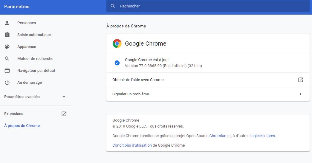 Mise à jour google chrome, rendre google chrome plus rapide