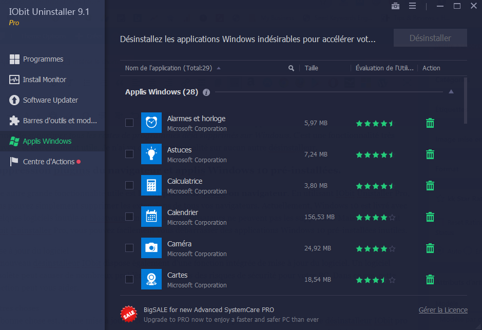 Désinstaller add-ons navigateur avec IObit Unistaller Pro, Avis IObit Unistaller Pro