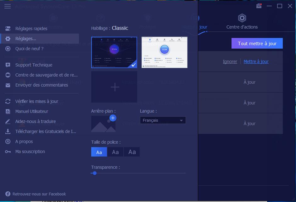 Interface Utilisateur ASC Pro