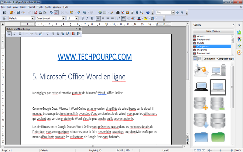 OppenOffice, alternative de Microsoft Word, Comme Microsoft Word