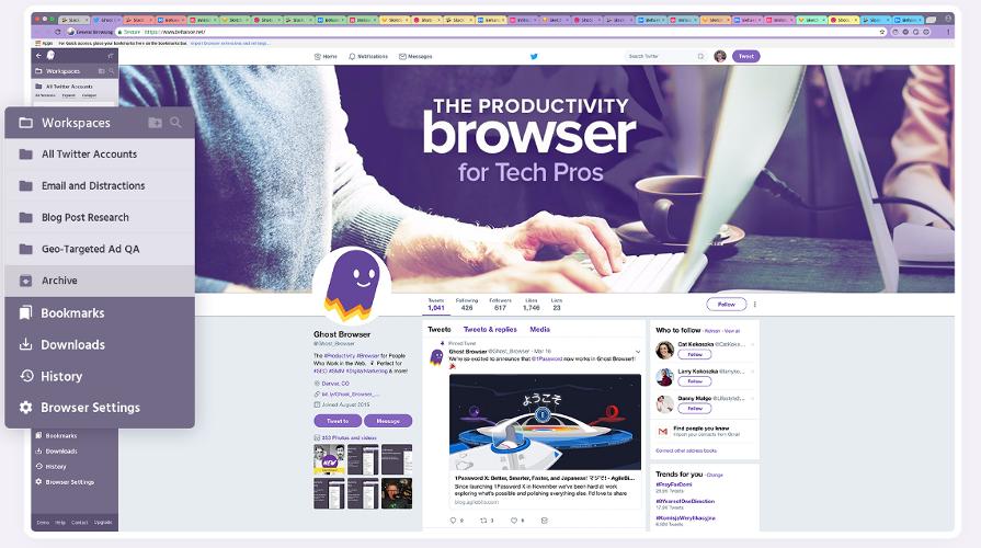 Telecharger Ghost Browser, Navigateur De Productivité