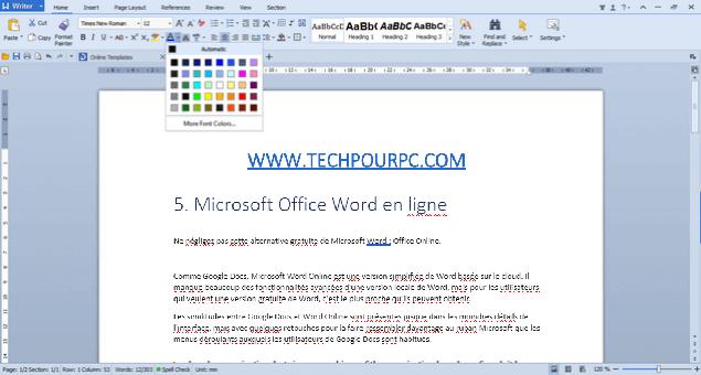 WPS Office, Logiciel similaire à Microsoft Word
