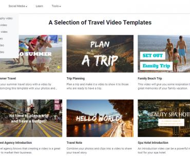 Créer des video voyage en ligne avec FlexClip