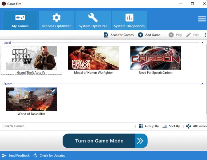 Optimiseur de jeux PC, Game Fire 6, Booster De Jeu
