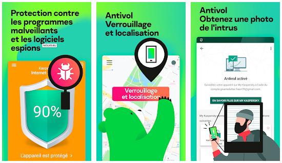 Kaspersky Antivirus Mobile, Antivirus gratuit pour Android