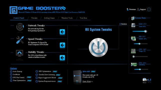EZ Game Booster, Logiciels d'optimisation jeux PC Windows 10