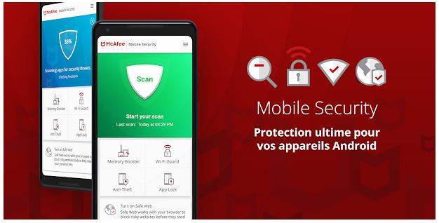 McAfee Android gratuit, Mobile Security VPN Wi-Fi sécurisé et antivol