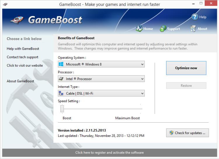 Améliorer performances de jeux PC windows 10, Game Boost,