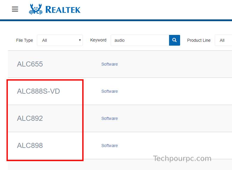 Télécharger le pilote Realtek HD audio
