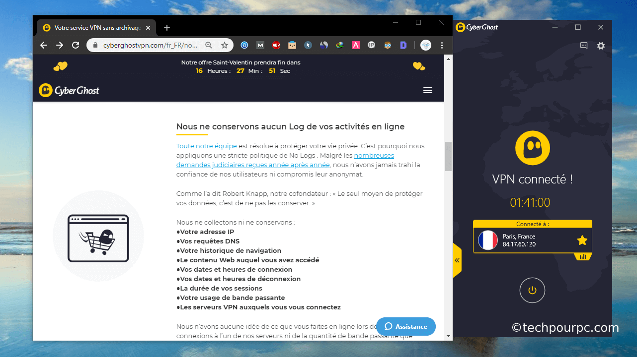 CyberGhostVPN no logs, Politique no-logs CyberGhostVPN