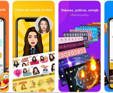 Rainbow clavier, meilleur clavier iPhone, clavier pour iPhone
