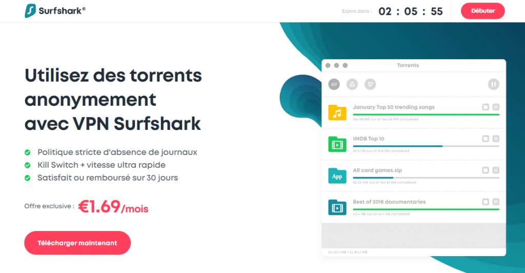 Surfshark pour torrenting
