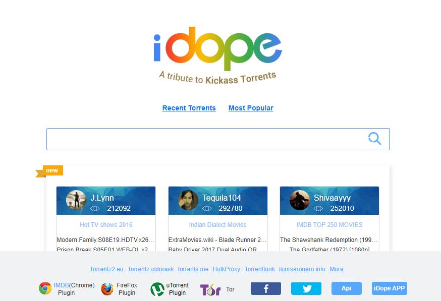 iDope torrent, meilleur site de téléchargement